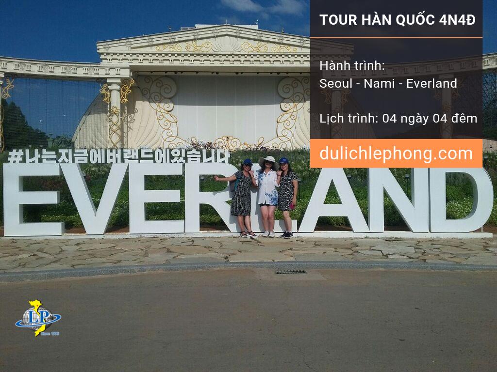 Hình thực tế tour Hàn Quốc 4N4Đ – Seoul – Nami – Everland