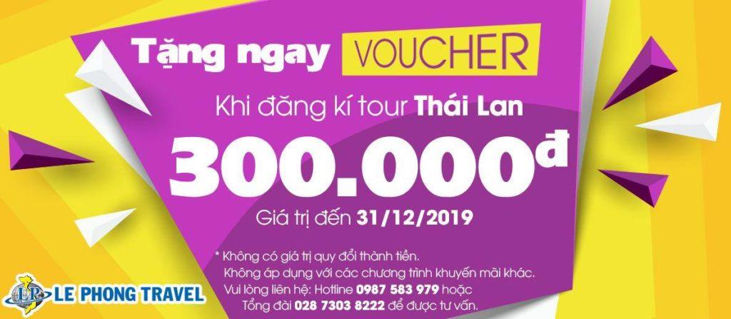 Tặng Voucher 300k - Tour Thái Lan